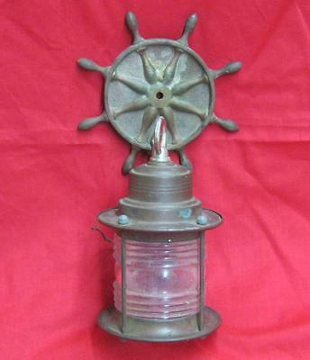 Vintage Copper Nautical Porch Light Fixture Sconce 3477-14