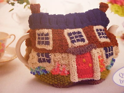 Knitting Pattern To Make Country Cottage Tea Cosy Using Oddments Of