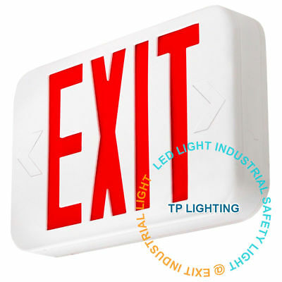 Red LED Emergency Exit Light Sign - Modern Battery Backup UL924 Fire Extra face