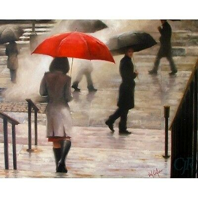 Daniel Del Orfano **a Passing Glimpse** Hand Embellished Giclee On Canvas