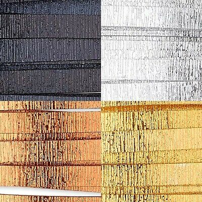 20 Feet Textured Wood Grain 5mm x 1mm Flat Aluminum Jewelry Wrapping Craft Wire