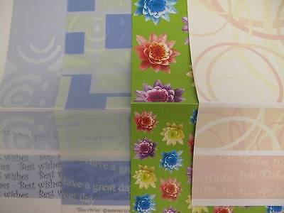 """12 x (16""""x12"""" approx) Vellum & Paper Backing inc 4"""" Overlay Sheets AM405"""