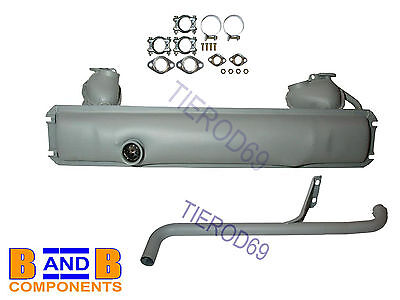 Vw T2 1600 Transporter Camper Van Exhaust Silencer Kit Tail Pipe 211251051T A527