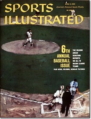 April 11, 1960 6th Annual Baseball Issue Sports Illustrated NO LABEL 1A