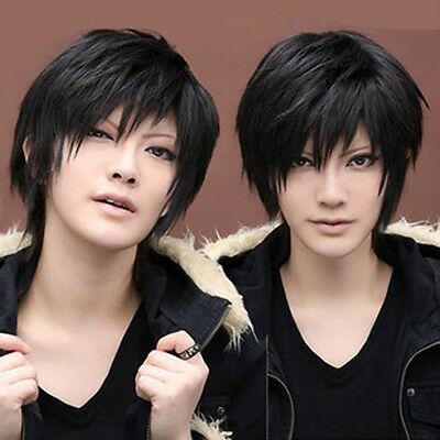 NC12 High Temperature Wire Black DuRaRaRa Orihara Izaya Black Short Cosplay Wig