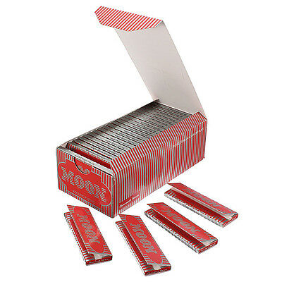1 Box 50 Booklets Moon Red Cigarette Rolling Papers 70*36mm 2500 Leaves