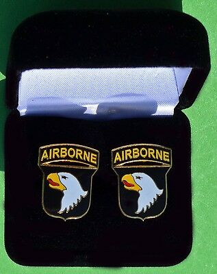101st Airborne Division Army Cuff Links in Presentation Gift Box  - cufflinks