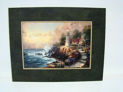 "Thomas Kinkade The Light of Peace 14""x 11"" Double Matted Print (G1-818)"