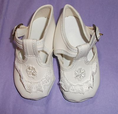 DOLL  789 white Mary Jane style La Sioux Baby doll/reborn SHOES 700 series 89MM