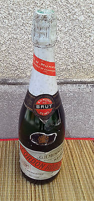 Ancienne bouteille Champagne Mumm cordon rouge pas ouvertes old french bottle