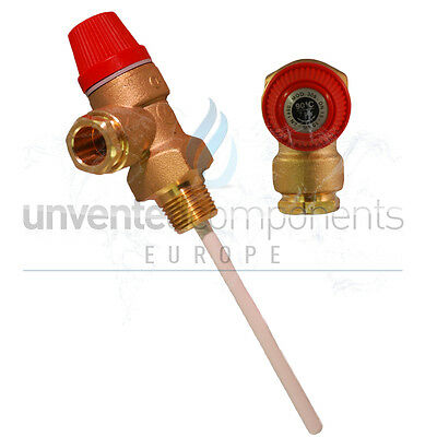 "Altecnic Caleffi 7 bar 1/2"" Pressure and temperature relief valve TPR15"