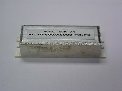K&L 4lL10-600/X6000-PX/PX 4 Section 600MHz SMT Low Pass Filter