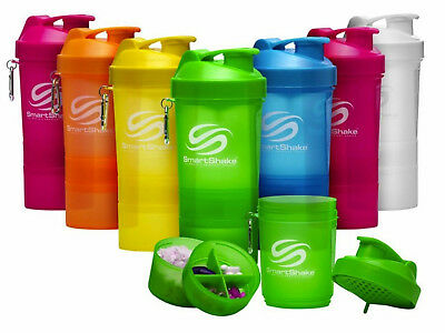 Smart Shake Protein Shaker Bottle BCAA Mixer Smart Shaker Cup - 600ml Free P&P