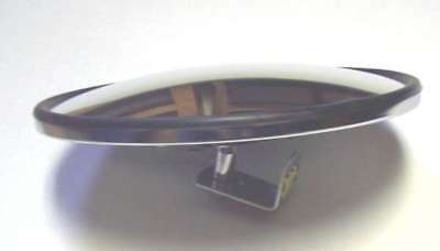 "mirror head blind spot 8"" round convex center mount ""L"" bracket included"