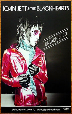 JOAN JETT & THE BLACKHEARTS Unvarnished 2013 Discontinued Ltd Ed RARE New Poster