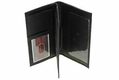 Checkbook Wallet Cover Holder Genuine Leather Mens Womens Center Flap New