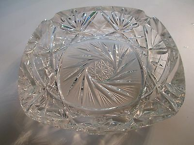 Vintage Cigarette Star Ashtray Glass Smoking Antique Tobacco Cigar 7 inch