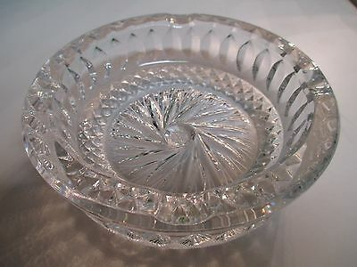 Vintage Cigarette Star Ashtray Glass Smoking Antique Tobacco Cigar 5 1/2 inches