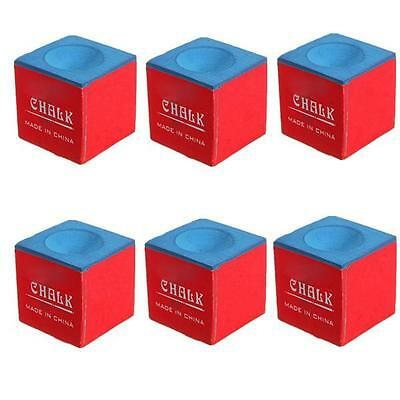 2/6/12/24 PCS Cubes Billiard Table Chalk Pool Snooker Cue Tip Blue