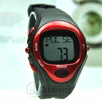 Pulse Heart Rate Monitor Calories Counter Fitness Sports Watch New Mens Womens