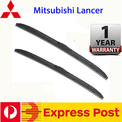Pair Frameless Windscreen Wiper Blade For Mitsubishi Lancer 2002  - 2016