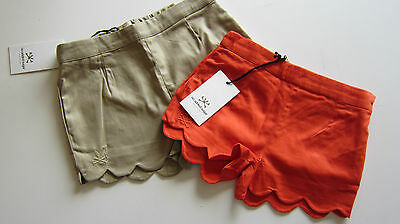 No Added Sugar Designer Girls Scallop Edge Shorts  Ages 3-12 Bnwt Rp£45