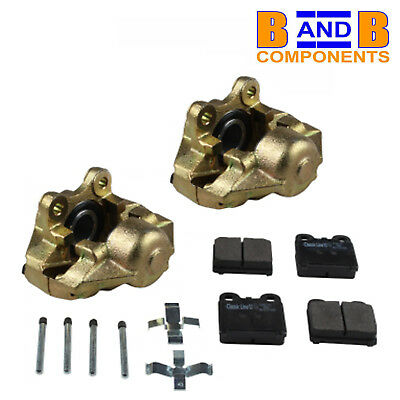 Vw T1 Beetle Front Disc Brake Calipers Pair Pads & Fittings 113615108 A591