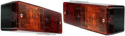 2 x RECTANGULAR TRAILER MULTIFUNCTION REAR LAMPS WITH  STOP/TAIL LIGHTS 170986