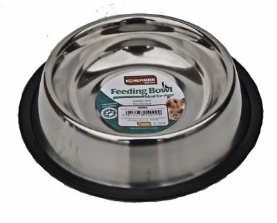Non Slip 23cm Stainless Steel Cat Puppy Dog Pet Bowl Dish Water Food Feeding