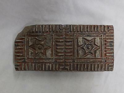 Brick Glazed Red Star Of David Antique Style 3533-14