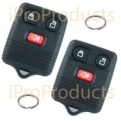 Pair of New 3 Button Keyless Entry Remote Fobs Clickers iFD3x2 + Key Rings