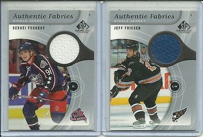 05-06 SP Game Used Sergei Fedorov Authentic Fabrics Jersey