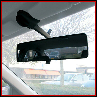 PANORAMIC / WIDE REAR VIEW MIRROR - ELASTICATED STRAP FIXING