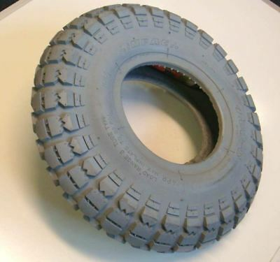 4.00-6 Grey Block Tread Mobility Scooter Tyre 400x6