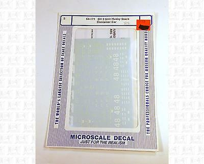 Microscale S Decals Burlington Northern 3 Unit Husky Stack Container Car 64-171