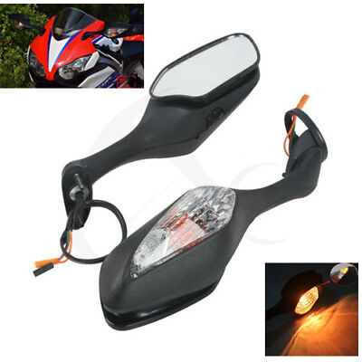 Cool Amber Turn Signal Light Rear View Mirrors For HONDA CBR1000RR 08-12 09 10