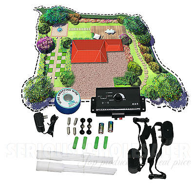 Electric Dog Fence System Water Resistant 2 Shock Collars