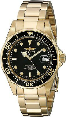 Invicta Mens 8936 Pro Diver Collection 23k Gold Plated Watch, New