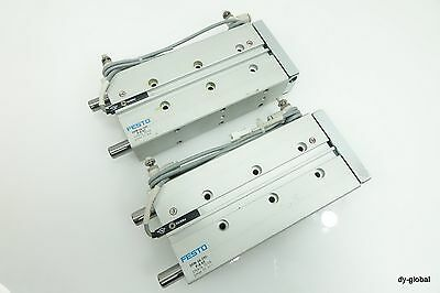 FESTO Guide Air Cylinder Used DFM-16-100-P-A-KF Pneumatic actuator 100mm stroke