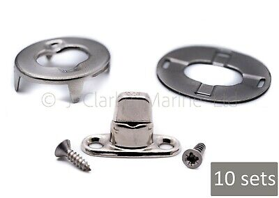 DOT - Turnbutton 8mm kit with screws common sense fastener boat canopy cover
