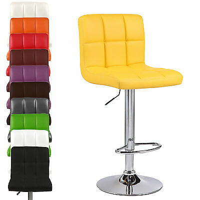 Cuban PU Faux Leather Breakfast Barstools Bar Stool Chair Chairs Seat Home Shop