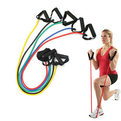 Resistance Stretch Band Tube for Yoga Pilates Fitness Muscle Exercise Workout