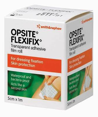 Opsite Flexifix 5cm x 1m Transparent Adhesive Film Roll for Dressing Fixation