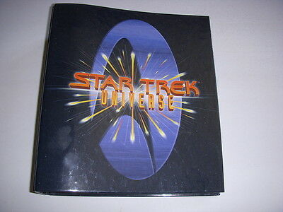 STAR TREK Universe Trivia Book, Full Size Binder, Star Trek, TNG, DSN, Voyager!