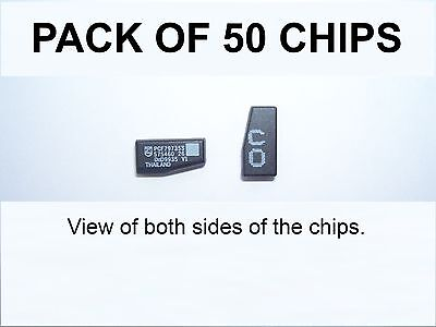 VAUXHALL COMPATIBLE CRYPTOGRAPHIC ID40 TRANSPONDER CHIPS - Pack of FIFTY CHIPS.