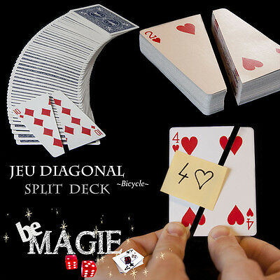 Jeu DIAGONAL Bicycle - Split deck - Tour de magie de cartes