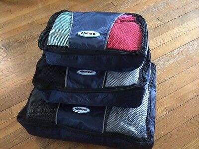 Lot of 6 Nomadi Brand Packing Cubes Luggage Compression Nylon Mesh Ships from NJ