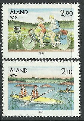 ALAND. 1991. Nordic Countries Tourism Set. SG: 50/51. Mint Never Hinged.