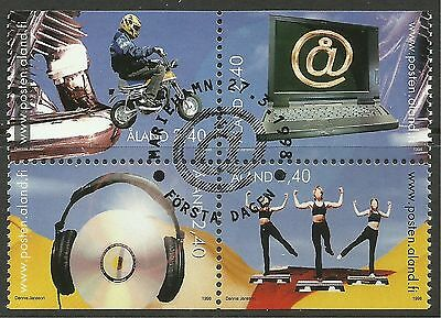 ALAND. 1998. Youth Activities Set. SG: 132/35. Fine Used CTO.