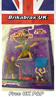 The Flintstones Collectable Figure 3 Pack - Mattel 1993 New Sealed - Free UK P&P